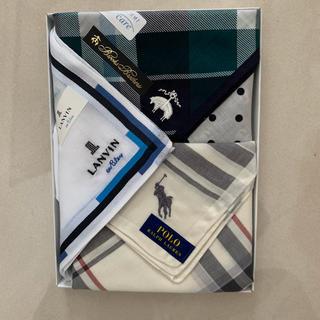 ラルフローレン(Ralph Lauren)の新品ハンカチ3枚セット(ハンカチ/ポケットチーフ)