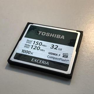 トウシバ(東芝)の高速タイプ TOSHIBA EXCERIA コンパクトフラッシュカード 32GB(デジタル一眼)
