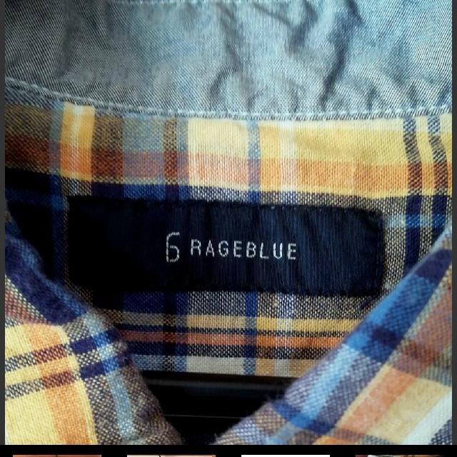 RAGEBLUE(レイジブルー)のRAGEBLUE 七分袖チェックシャツ メンズのトップス(シャツ)の商品写真