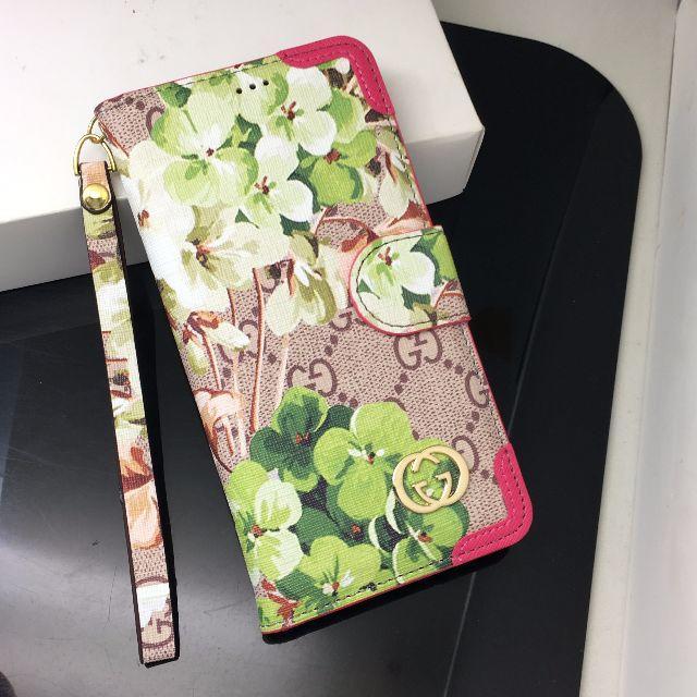 スマホケース アレンジ 、 Gucci - GUCCI  iPhone 6/6s plus 携帯電話ケース[ボタン] パウダの通販 by ふじゅひじゃはい's shop|グッチならラクマ