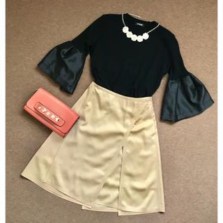 e899d953aff1b フォクシー(FOXEY)の新品未使用 フォクシー ベージュ パネルスカート(ひざ丈スカート