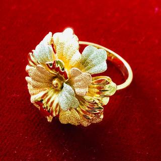 指輪 K18  花(リング(指輪))