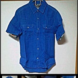 メンズビギ(MEN'S BIGI)のMensBIGI 爽やかブルーシャツ(シャツ)
