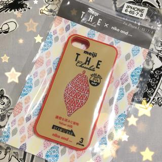 ニコアンド(niko and...)の【新品・未開封・即完売品】meiji×niko and... iPhoneケース(iPhoneケース)