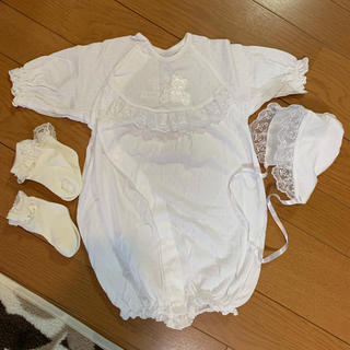 ニシマツヤ(西松屋)の【新品未使用】赤ちゃんセレモニードレス50〜60サイズ(セレモニードレス/スーツ)