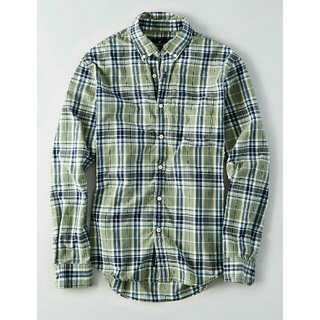 アメリカンイーグル(American Eagle)の【未使用】アメリカンイーグル ポプリンプラッドシャツ(シャツ)