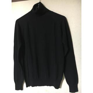 ザラ(ZARA)の美品❣️ザラ男女兼用ハイネック薄手ニットセーター ブラック L(ニット/セーター)