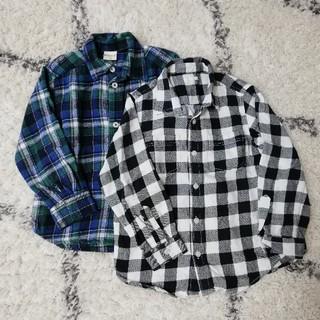 ジーユー(GU)のキッズ 120 チェックシャツ(Tシャツ/カットソー)