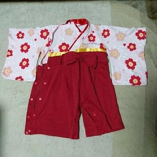 袴 ロンパース 女の子 80(和服/着物)