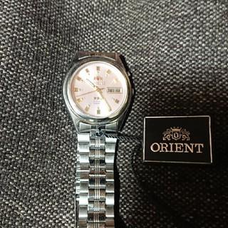 オリエント(ORIENT)のORIENT スリースター ピンク文字盤 自動巻き(腕時計(アナログ))