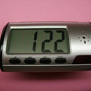 ■防犯カメラ目覚まし時計(中古美品)■(防犯カメラ)