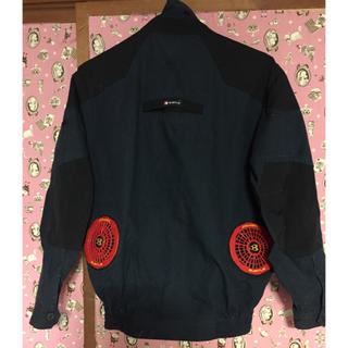 バートル(BURTLE)のバートル 空調服 ネイビーS 限定色赤ファン(その他)