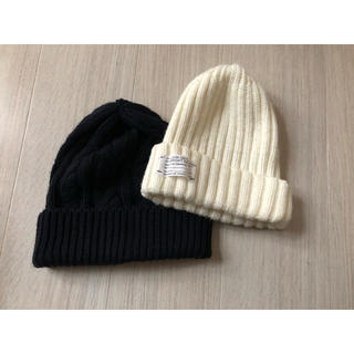 ジーユー(GU)のニット帽 2つセット GU (ニット帽/ビーニー)