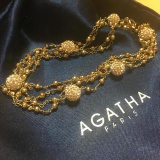 アガタ(AGATHA)のアガタ パリ ロングネックレス 金色(ネックレス)