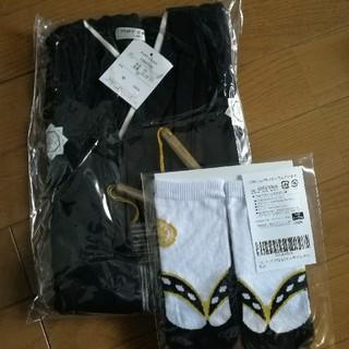 ★新品タグ付き★袴ロンパース+靴下セット 80(和服/着物)