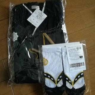 ★新品タグ付き★袴ロンパース+靴下セット 90(和服/着物)