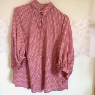 ジーユー(GU)の水玉シャツ(Tシャツ(長袖/七分))