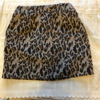 しまむら - しまむら レオパード柄ミニスカート