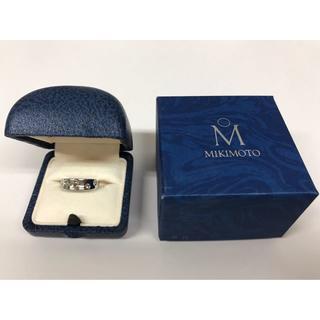 ミキモト(MIKIMOTO)の新品● MIKIMOTO K18WG 0.24ct 指輪 リング ダイヤ 11号(リング(指輪))