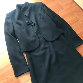 ヒロミチナカノ(HIROMICHI NAKANO)のヒロミチナカノ★冠婚葬祭用 黒のワンピーススーツ 美品(礼服/喪服)