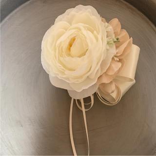 toytoy187 コサージュ 結婚式 入学式 卒業式に セレモニー シンプル(コサージュ/ブローチ)