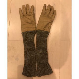 バーニーズニューヨーク(BARNEYS NEW YORK)のイタリア製⭐️レザーカシミヤグローブ(手袋)