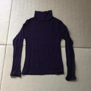 シマムラ(しまむら)の335  しまむら☆ファイバーヒート紫タートル☆(アンダーシャツ/防寒インナー)