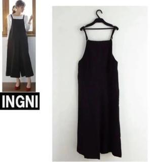 イング(INGNI)の2018★INGNIイング★新品ワイド サロペット黒(サロペット/オーバーオール)