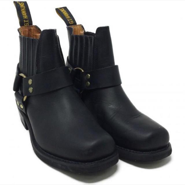 G.T. HAWKINS(ジーティーホーキンス)の◾️G.T.HAWKINS◾️サイドゴア リングブーツ size.6 黒 メンズの靴/シューズ(ブーツ)の商品写真