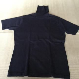 シップス(SHIPS)のSHIPS ネイビー ☆半袖セーター(ニット/セーター)