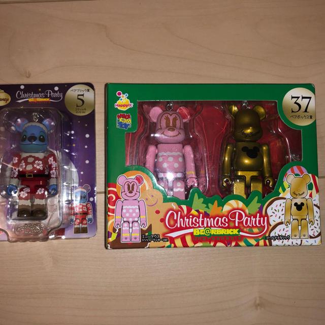 Disney(ディズニー)のベアブリック ディズニー ミッキー ミニー スティチ クリスマス エンタメ/ホビーのおもちゃ/ぬいぐるみ(キャラクターグッズ)の商品写真