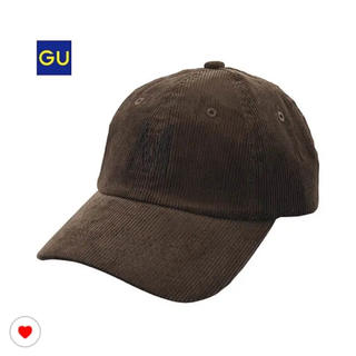 ジーユー(GU)のGU ジーユー キャップ 帽子 コーデュロイ レディース メンズにも!(キャップ)