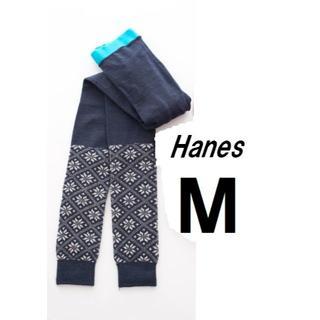 ヘインズ(Hanes)の新品*M* ヘインズ*雪柄タイツ レギンス*Hanes(レギンス/スパッツ)