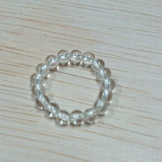 水晶ビーズリング 新品未使用(リング(指輪))