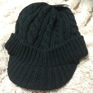 シマムラ(しまむら)の新品しまむらニット帽 黒(ニット帽/ビーニー)