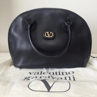 ヴァレンティノガラヴァーニ(valentino garavani)のまぴ様 本革 レザー バレンチノガラバーニ 2WAY ハンドバッグ  黒(ハンドバッグ)