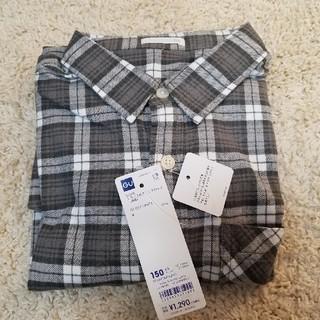 ジーユー(GU)の新品 GU フランネルチェックシャツ 長袖(ブラウス)