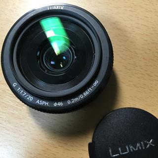 パナソニック(Panasonic)のLumix 20mm f1.7 H-H020A 新型 単焦点レンズ(レンズ(単焦点))
