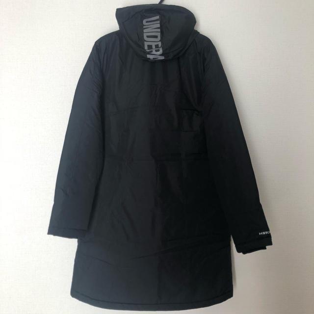 UNDER ARMOUR(アンダーアーマー)のアンダーアーマー レディース 新品 ベンチコート ロングコート ブラック レディースのジャケット/アウター(ロングコート)の商品写真