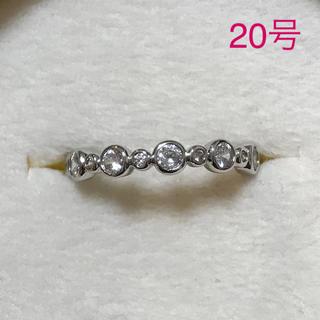 リング 指輪 CZ ダイヤ フルエタニティ 20号 大きいサイズ(リング(指輪))