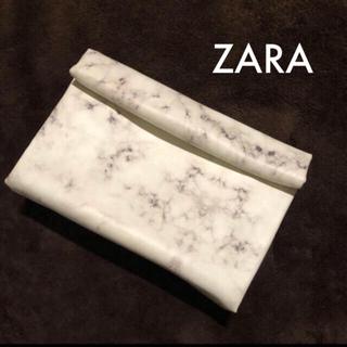 ザラ(ZARA)のZARA 大理石風クラッチバッグ(クラッチバッグ)