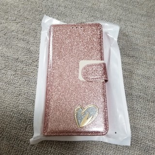 Galaxy note9 手帳型ケース ラメ ピンクゴールド(モバイルケース/カバー)