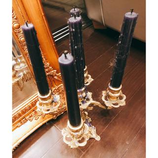真鍮製燭台(アロマ/キャンドル)