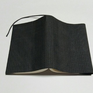 大島紬のブックカバー チャコールグレー(ブックカバー)
