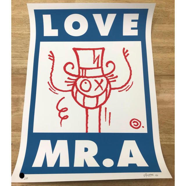 MEDICOM TOY(メディコムトイ)のAndré Saraiva Mr.A kaws メディコムトイ ベアブリック   エンタメ/ホビーの美術品/アンティーク(版画)の商品写真