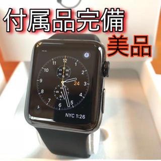 アップルウォッチ(Apple Watch)のApple Watch Series 2 42mm スペースブラステンレス 美品(その他)