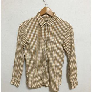 MUJI (無印良品) - 無印良品 ギンガムチェックシャツ イエロー