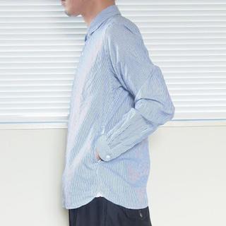 ヤエカ(YAECA)のYAECA スナップシャツ ブルーストライプ(シャツ)