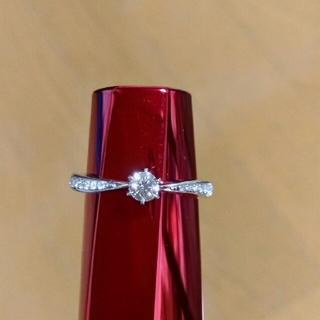 ヨンドシー(4℃)のプラチナダイヤリング(リング(指輪))