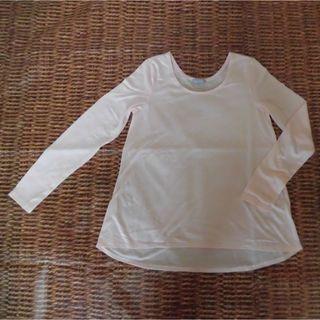 ジーユー(GU)のg.u. うす ピンク 長袖 Tシャツ M シンプル 軽い スポーツ にも(Tシャツ(長袖/七分))